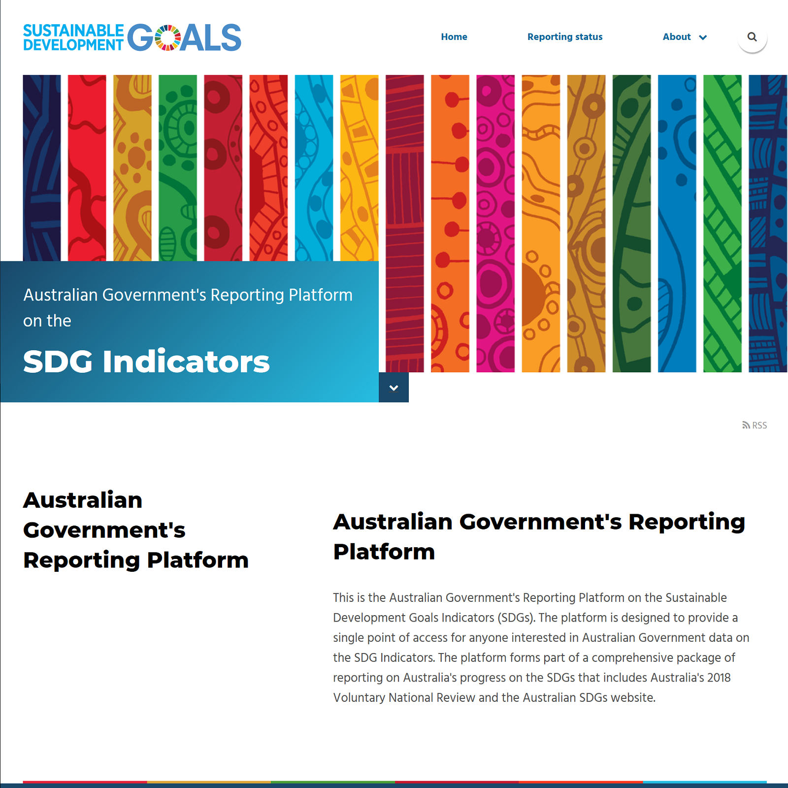 Australian Government's Reporting Platform
