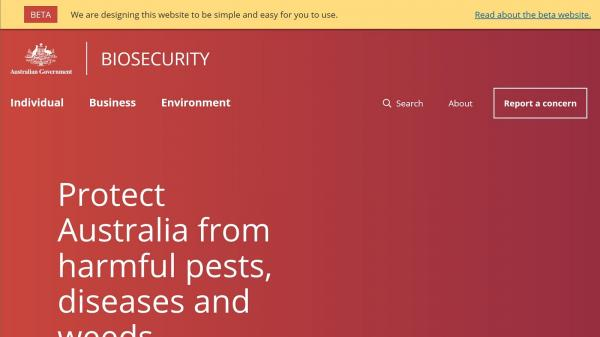Inspector General of Biosecurity - Beta website screenshot