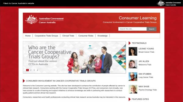 Consumer Learning website screenshot