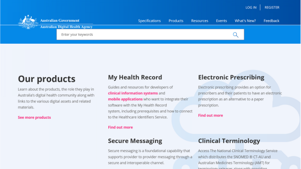 Developer Digital Health website screenshot