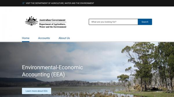 Environment-Economic Accounting website screenshot