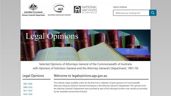 Legal Opinions website screenshot