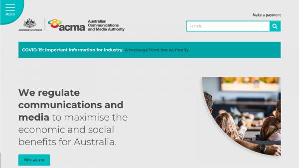 Australian Comunications and Media Authority