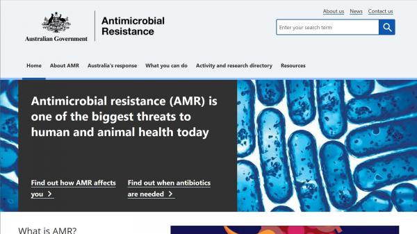 Antimicrobial Resistance website screenshot