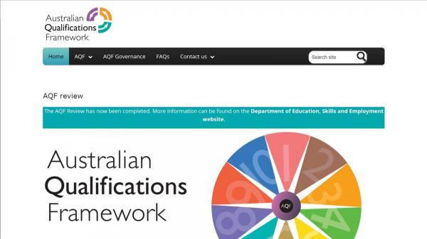Australian Qualifications Frameworks