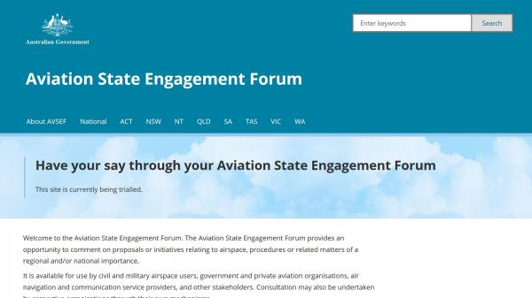 Aviation State Engagement Forum