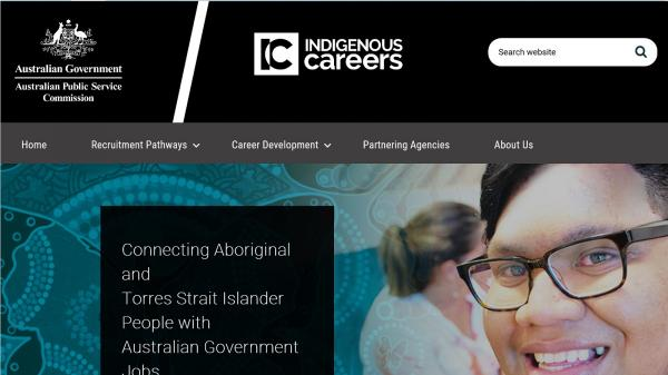 Indigenous Careers website screenshot