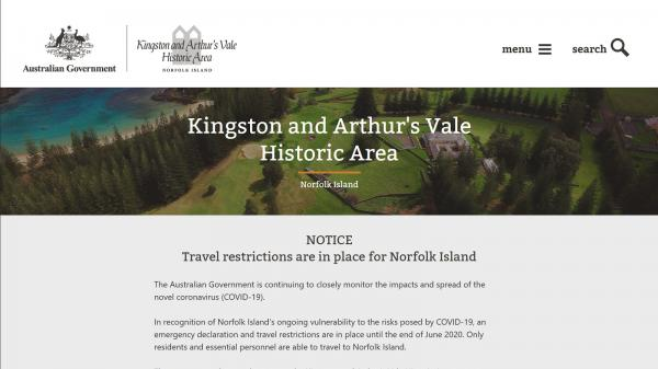 Kingston and Arthur's Vale Historic Area