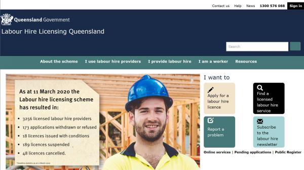 Labour Hire Licensing Queensland