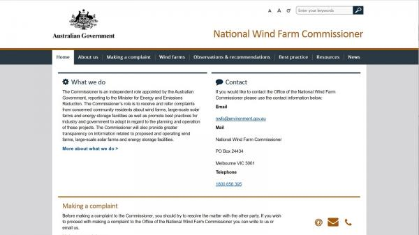 National Wind Farm Commissioner
