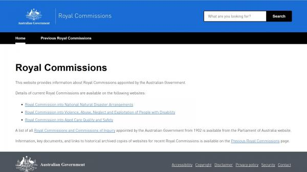 Royal Commissions