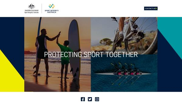 Sport Integrity homepage screenshot
