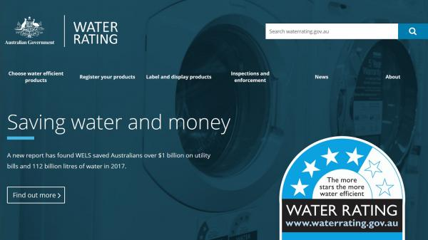 Water Rating homepage screenshot