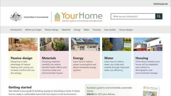 Your Home homepage screenshot