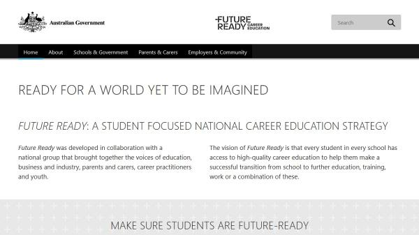 Future Ready Career Education homepage screenshot
