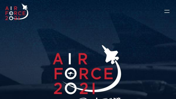 Air Force 100 homepage screenshot