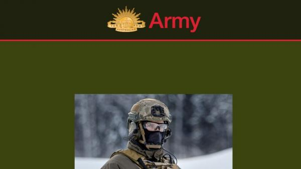 DATE Army homepage screenshot