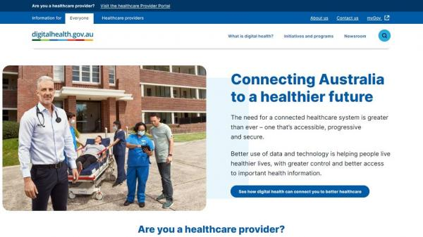 Australian Digital Health Agency homepage screenshot