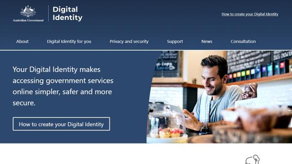 Digital Identity homepage screenshot