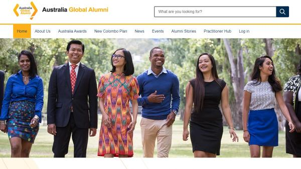 Global Alumni homepage screenshot